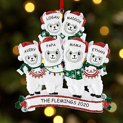 Fa La La Llama Family Bauble