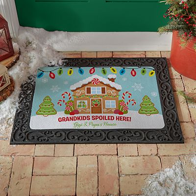 Gingerbread Greetings Doormat