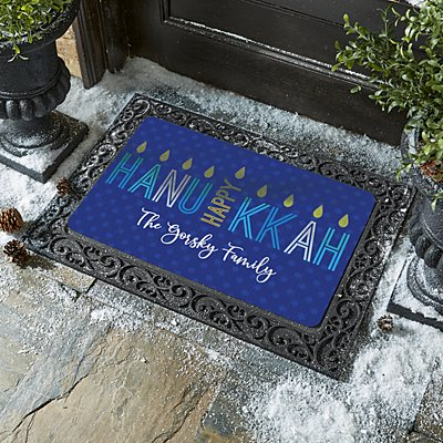 Happy Hanukkah Doormat