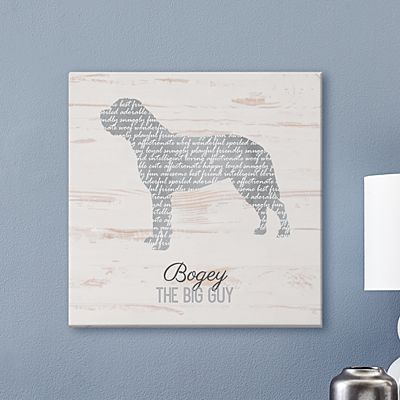 Life is Better with a Dog Canvas