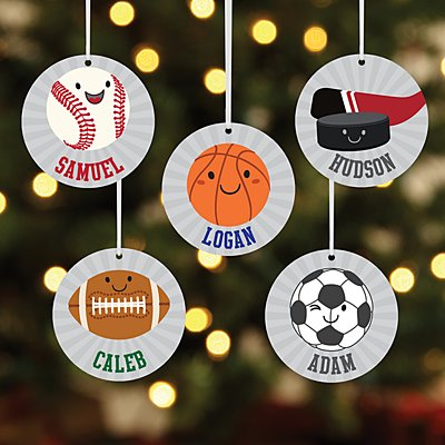 Little Sports Fan Round Ornament