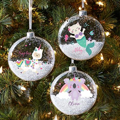 Magical Friends Glitter Glass Bauble