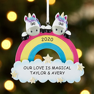 Magical Unicorn Couple Ornament