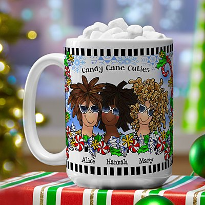 Name Your Sisterhood Christmas Greeting Mug by Suzy Toronto
