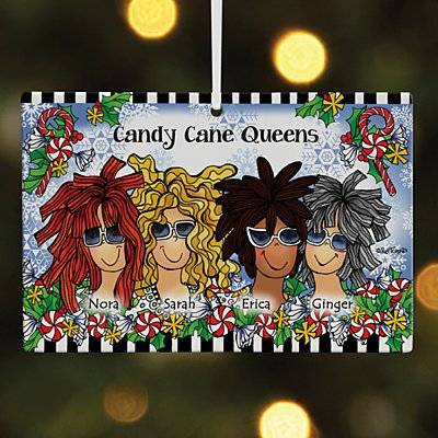 Name Your Sisterhood Christmas Greeting Rectangle Ornament by Suzy Toronto