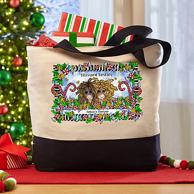 Name Your Sisterhood Christmas Greeting Tote Bag by Suzy Toronto