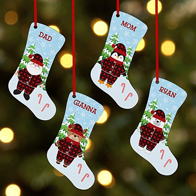 Pajama Character Stocking Ornament