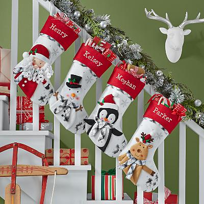 Perfectly Plaid Pals Stocking