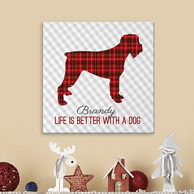 Perfectly Plaid Pet Canvas