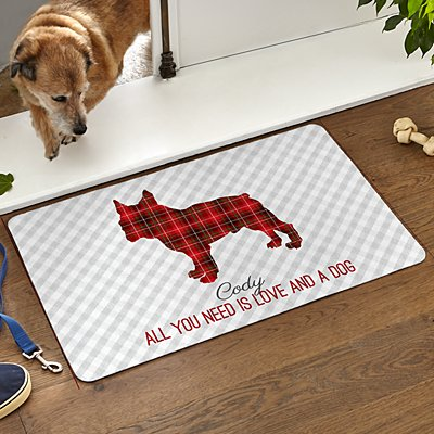 Perfectly Plaid Pet Doormat