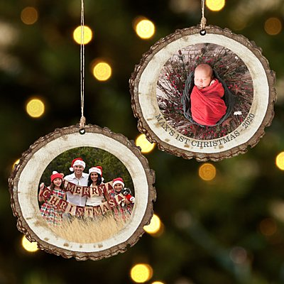 Picture Perfect Photo Rustic Wood Ornament