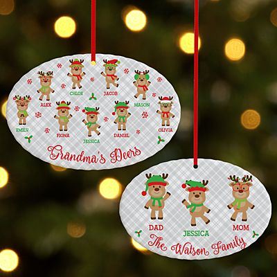 Smart and Sassy Reindeer Oval Ornament