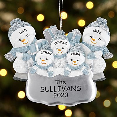 The Original Snow Buddies Santa's Present Family Ornament