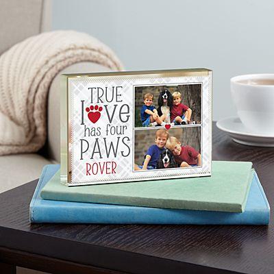 True Love Pet Photo Glass Block