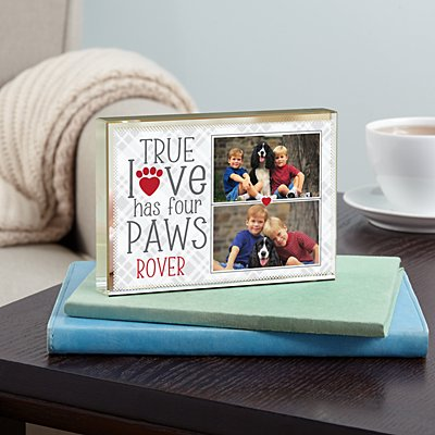 True Love Pet Photo Glass Block