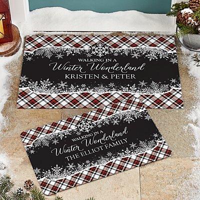 Walking in a Winter Wonderland Doormat