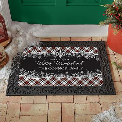 Walking in a Winter Wonderland Doormat