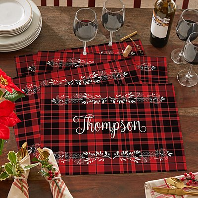 Winter Plaid Placemat