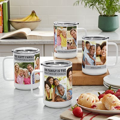Memories Shared Insulated Photo 15 oz. Mug