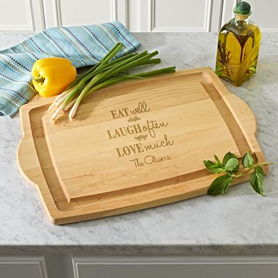 Eat Laugh Love Wood Cutting Board