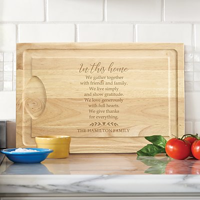 Happy Home Wood Cutting Board