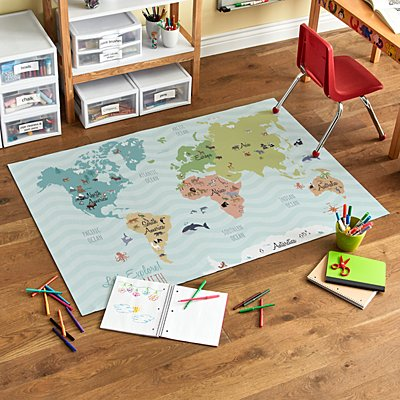 All Around The World Oversized Mat