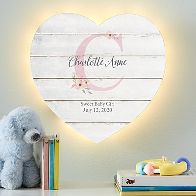Stephen Joseph® Elegant Baby Name Heart Nightlight