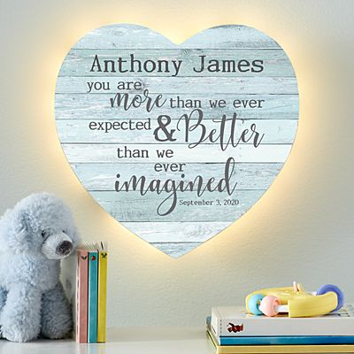 Stephen Joseph® More Than We Expected Heart Nightlight