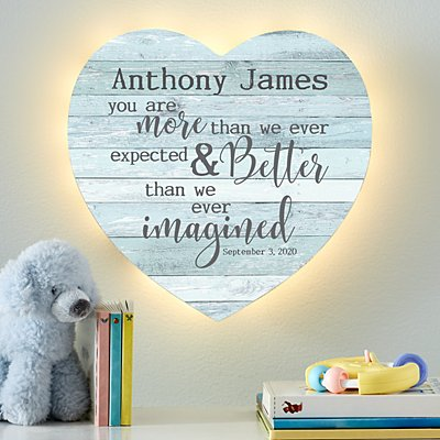 Stephen Joseph® More Than We Expected Heart Nightlight