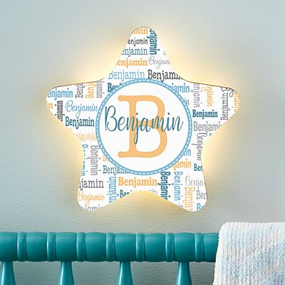 Stephen Joseph®  Collage Name Star Nightlight