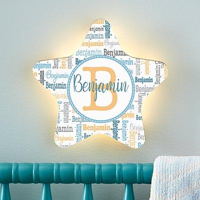 Stephen Joseph®  Collage Name Star Nightlight