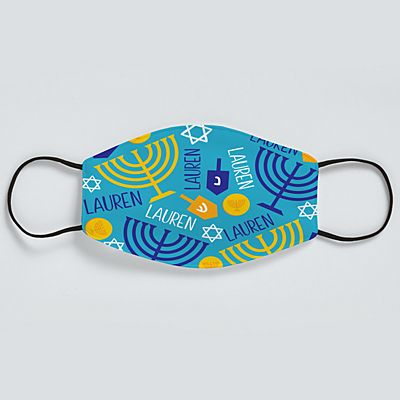 Happy Hanukkah Adult Face Mask