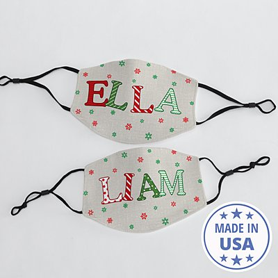 Festive Name Face Mask