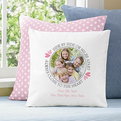 Always Close To Me Photo Throw Pillow