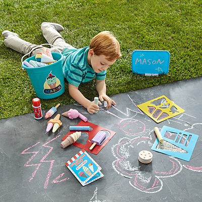 Melissa & Doug® Ice Cream Shop Chalk Set & Bucket