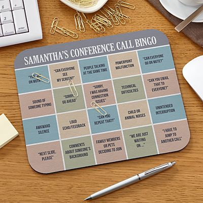 Conference Call Bingo Mouse Pad