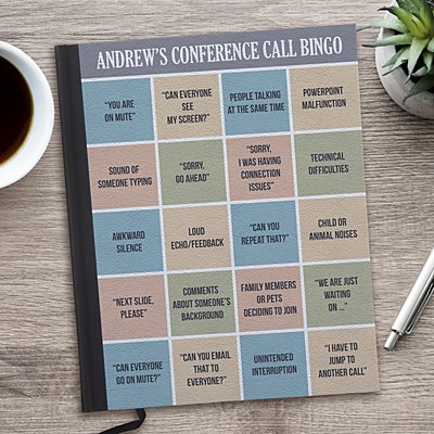Conference Call Bingo Notebook