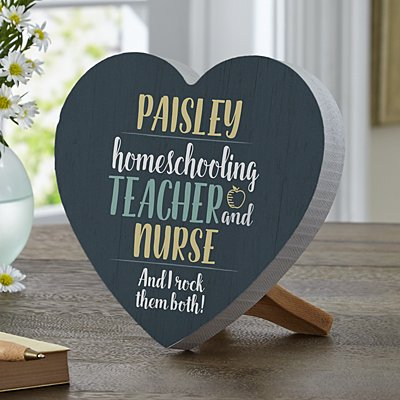 Parent, Teacher, Boss Mini Wood Heart