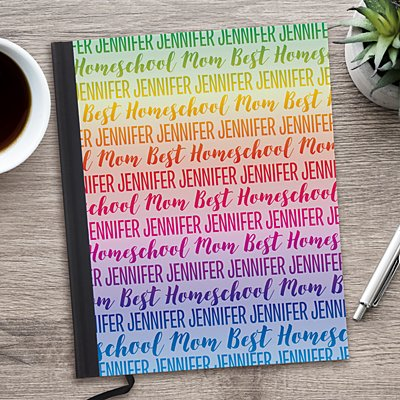 Rainbow Name Notebook