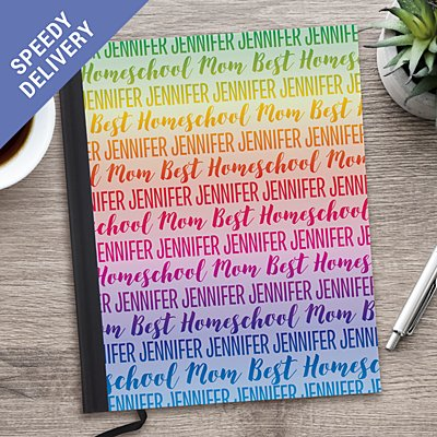Rainbow Name Notebook