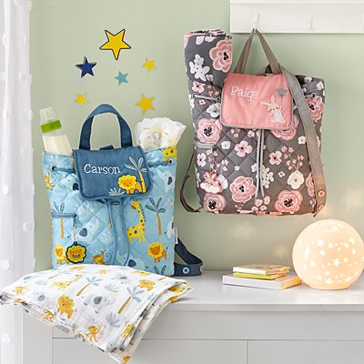 Stephen Joseph® Quilted Baby Backpack & Blanket Set