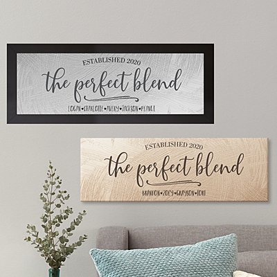 The Perfect Blend Canvas