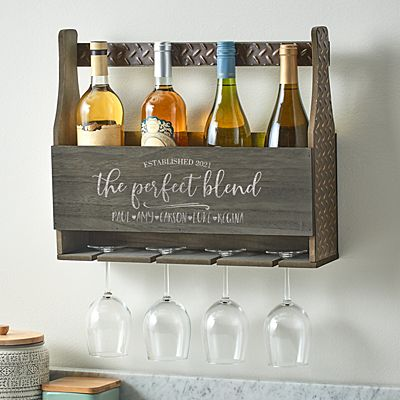 The Perfect Blend Wood Wine Rack