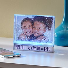 Color Changing Glitter Picture Frame
