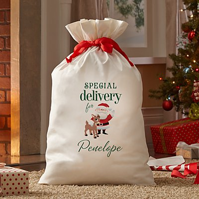 Rudolph® & Santa Special Delivery Oversized Gift Bag