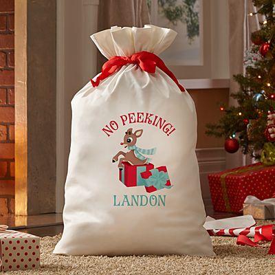 Rudolph® No Peeking Oversized Gift Bag