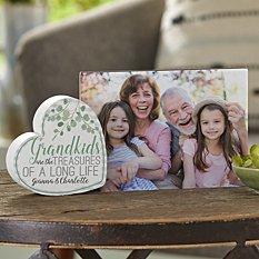 Grandkids Are Treasures Heart Frame