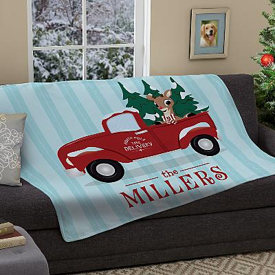 Rudolph® North Pole Delivery Plush Blanket