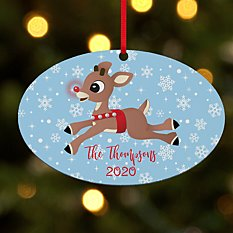 Rudolph® Snowflake Oval Ornament