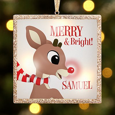TwinkleBright® LED Merry & Bright Rudolph® Ornament